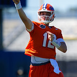University of Florida Gators quarterback Jake Allen as the Gators run drills during the second day of 2018 spring practices at Sanders Field at the University of Florida.  March 17th, 2018.  Gator Country photo by David Bowie.