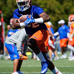 University of Florida Gators running back Adarius Lemons as the Gators run drills during the second day of 2018 spring practices at Sanders Field at the University of Florida.  March 17th, 2018.  Gator Country photo by David Bowie.
