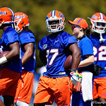 University of Florida Gators athlete Isaac Ricks as the Gators run drills during the second day of 2018 spring practices at Sanders Field at the University of Florida.  March 17th, 2018.  Gator Country photo by David Bowie.
