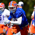 The Florida Gators continue spring camp as the Gators run drills during the second day of 2018 spring practices at Sanders Field at the University of Florida.  March 17th, 2018.  Gator Country photo by David Bowie.