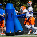 University of Florida Gators linebacker Nick Smith as the Gators run drills during the second day of 2018 spring practices at Sanders Field at the University of Florida.  March 17th, 2018.  Gator Country photo by David Bowie.