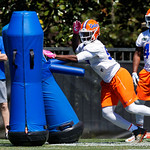 University of Florida Gators defensive lineman Jachai Polite as the Gators run drills during the second day of 2018 spring practices at Sanders Field at the University of Florida.  March 17th, 2018.  Gator Country photo by David Bowie.