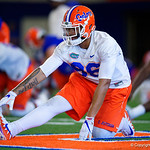 University of Florida Gators defensive lineman Cece Jefferson as the Gators run drills during the second day of 2018 spring practices at Sanders Field at the University of Florida.  March 17th, 2018.  Gator Country photo by David Bowie.