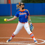 University of Florida Gators Softball pitcher Kelly Barnhill pitching as the Gators defeat the #8 Texas A&M Aggies 7-3 to complete the sweep at Katie Seashole Pressly Softball Stadium in Gainesville, Florida.  March 26th, 2018. Gator Country photo by David Bowie.