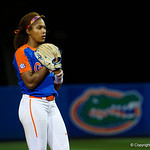 University of Florida Gators Softball pitcher Aleshia Ocasio pitching in relief as the Gators defeat the #8 Texas A&M Aggies 7-3 to complete the sweep at Katie Seashole Pressly Softball Stadium in Gainesville, Florida.  March 26th, 2018. Gator Country photo by David Bowie.