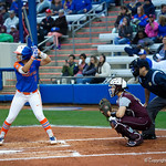 University of Florida Gators Softball infielder Hannah Adams at the plate as the Gators defeat the #8 Texas A&M Aggies 7-3 to complete the sweep at Katie Seashole Pressly Softball Stadium in Gainesville, Florida.  March 26th, 2018. Gator Country photo by David Bowie.