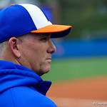 University of Florida Gators Softball head coach Tim Walton watches on as the Gators defeat the #8 Texas A&M Aggies 7-3 to complete the sweep at Katie Seashole Pressly Softball Stadium in Gainesville, Florida.  March 26th, 2018. Gator Country photo by David Bowie.