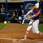University of Florida Gators Softball UT/C Danielle Romanello singles as the Gators defeat the #8 Texas A&M Aggies 7-3 to complete the sweep at Katie Seashole Pressly Softball Stadium in Gainesville, Florida.  March 26th, 2018. Gator Country photo by David Bowie.