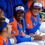 University of Florida Gators Softball infielder Jaimie Hooveris all smiles during pre-game as the Gators defeat the #8 Texas A&M Aggies 7-3 to complete the sweep at Katie Seashole Pressly Softball Stadium in Gainesville, Florida.  March 26th, 2018. Gator Country photo by David Bowie.
