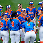 University of Florida Gators Softball outifelder Amanda Lorenz and The Gators gather together before the game, as the Gators defeat the #8 Texas A&M Aggies 7-3 to complete the sweep at Katie Seashole Pressly Softball Stadium in Gainesville, Florida.  March 26th, 2018. Gator Country photo by David Bowie.