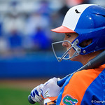 University of Florida Gators Softball first baseman Kayli Kvistad as the Gators defeat the #8 Texas A&M Aggies 7-3 to complete the sweep at Katie Seashole Pressly Softball Stadium in Gainesville, Florida.  March 26th, 2018. Gator Country photo by David Bowie.