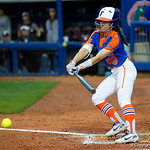 University of Florida Gators Softball outifelder Alex Voss swinging away as the Gators defeat the #8 Texas A&M Aggies 7-3 to complete the sweep at Katie Seashole Pressly Softball Stadium in Gainesville, Florida.  March 26th, 2018. Gator Country photo by David Bowie.