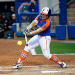 University of Florida Gators Softball outifelder Amanda Lorenz swinging away as the Gators defeat the #8 Texas A&M Aggies 7-3 to complete the sweep at Katie Seashole Pressly Softball Stadium in Gainesville, Florida.  March 26th, 2018. Gator Country photo by David Bowie.