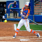 University of Florida Gators Softball infielder Nicole DeWitt swinging away as the Gators defeat the #8 Texas A&M Aggies 7-3 to complete the sweep at Katie Seashole Pressly Softball Stadium in Gainesville, Florida.  March 26th, 2018. Gator Country photo by David Bowie.