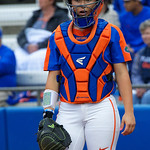 University of Florida Gators Softball C/1B Janell Wheaton as the Gators defeat the #8 Texas A&M Aggies 7-3 to complete the sweep at Katie Seashole Pressly Softball Stadium in Gainesville, Florida.  March 26th, 2018. Gator Country photo by David Bowie.