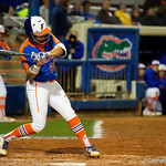 University of Florida Gators Softball C/1B Janell Wheaton singles as the Gators defeat the #8 Texas A&M Aggies 7-3 to complete the sweep at Katie Seashole Pressly Softball Stadium in Gainesville, Florida.  March 26th, 2018. Gator Country photo by David Bowie.