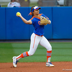 University of Florida Gators Softball infielder Hannah Adams throws to first base as the Gators defeat the #8 Texas A&M Aggies 7-3 to complete the sweep at Katie Seashole Pressly Softball Stadium in Gainesville, Florida.  March 26th, 2018. Gator Country photo by David Bowie.