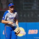 University of Florida Gators Softball infielder Nicole DeWitt is all smiles as the Gators defeat the Maryland Terrapins 12-0 at Katie Seashole Pressly Softball Stadium in Gainesville, Florida.  February 24th, 2018. Gator Country photo by David Bowie.