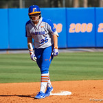 University of Florida Gators Softball C/1B Janell Wheaton on second base as the Gators defeat the Maryland Terrapins 12-0 at Katie Seashole Pressly Softball Stadium in Gainesville, Florida.  February 24th, 2018. Gator Country photo by David Bowie.