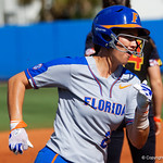 University of Florida Gators Softball infielder Nicole DeWitt rounds third base as the Gators defeat the Maryland Terrapins 12-0 at Katie Seashole Pressly Softball Stadium in Gainesville, Florida.  February 24th, 2018. Gator Country photo by David Bowie.