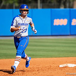 University of Florida Gators Softball infielder Nicole DeWitt leads off second base as the Gators defeat the Maryland Terrapins 12-0 at Katie Seashole Pressly Softball Stadium in Gainesville, Florida.  February 24th, 2018. Gator Country photo by David Bowie.