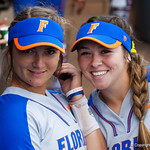 University of Florida Gators Softball infielder Hannah Adams and University of Florida Gators Softball UT/C Danielle Romanello as the Gators defeat the Maryland Terrapins 12-0 at Katie Seashole Pressly Softball Stadium in Gainesville, Florida.  February 24th, 2018. Gator Country photo by David Bowie.