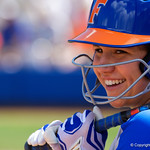 University of Florida Gators Softball infielder Nicole DeWitt as the Gators defeat the Maryland Terrapins 12-0 at Katie Seashole Pressly Softball Stadium in Gainesville, Florida.  February 24th, 2018. Gator Country photo by David Bowie.