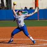 University of Florida Gators Softball pitcher Natalie Lugo as the Gators defeat the Maryland Terrapins 12-0 at Katie Seashole Pressly Softball Stadium in Gainesville, Florida.  February 24th, 2018. Gator Country photo by David Bowie.