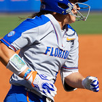 University of Florida Gators Softball C/1B Janell Wheaton rounds third and sprints to home plate to score as the Gators defeat the Maryland Terrapins 12-0 at Katie Seashole Pressly Softball Stadium in Gainesville, Florida.  February 24th, 2018. Gator Country photo by David Bowie.