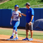University of Florida Gators Softball C/1B Janell Wheaton as the Gators defeat the Maryland Terrapins 12-0 at Katie Seashole Pressly Softball Stadium in Gainesville, Florida.  February 24th, 2018. Gator Country photo by David Bowie.
