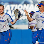 University of Florida Gators Softball pitcher Kelly Barnhill pitching as the Gators defeat the Iowa State Cyclones 8-0 at Katie Seashole Pressly Softball Stadium in Gainesville, Florida.  February 24th, 2018. Gator Country photo by David Bowie.