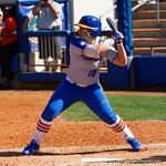University of Florida Gators Softball outifelder Amanda Lorenz at the plate as the Gators defeat the Maryland Terrapins 12-0 at Katie Seashole Pressly Softball Stadium in Gainesville, Florida.  February 24th, 2018. Gator Country photo by David Bowie.