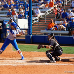 University of Florida Gators Softball infielder Jordan Matthews at the plate as the Gators defeat the Maryland Terrapins 12-0 at Katie Seashole Pressly Softball Stadium in Gainesville, Florida.  February 24th, 2018. Gator Country photo by David Bowie.