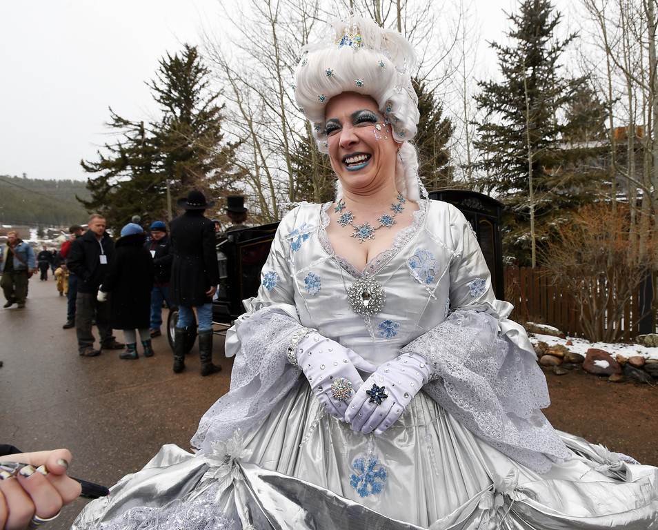 . Traci Honnewell is Queen of the festivities  on Saturday during 2018 Frozen Dead Guy Days in Nederland. The festival continues on Sunday. For more photos, go to dailycamera.com. Cliff Grassmick  Photographer  March 10, 2018