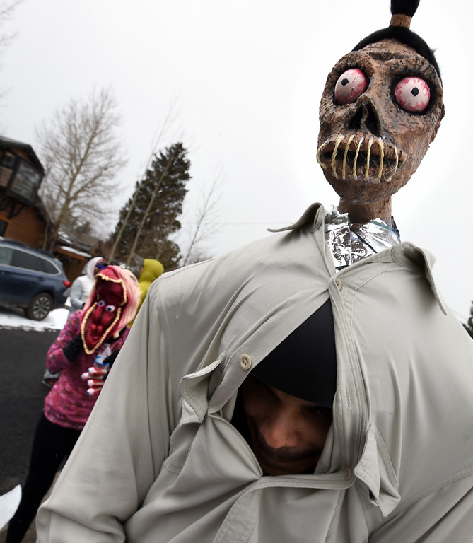 . Corry Little shows off his best head  on Saturday during 2018 Frozen Dead Guy Days in Nederland. The festival continues on Sunday. For more photos, go to dailycamera.com. Cliff Grassmick  Photographer  March 10, 2018