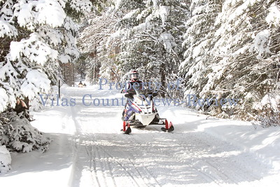 Snowmobiling the North Woods