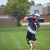 James Neiss/staff photographer <br /> Pendleton, NY - Starpoint High School football Quarterback Aaron Chase passes the ball on the first day of football practice.