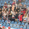 James Neiss/staff photographer <br /> Buffalo, NY - Niagara-Wheatfield hockey fans cheer on their team before playing Williamsville North during a sectional playoff game at KeyBank Center.
