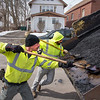 James Neiss/staff photographer <br /> Niagara Falls, NY - Pothole Patrol: Niagara Falls DPW crew Dominic Manaresi and Vito Paoli get some cold patch to fill potholes on Cayuga Drive in LaSalle.
