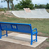 James Neiss/staff photographer <br /> Niagara Falls, NY - Everything Niagara Falls: A sharp new park bench sporting a NF logo now compliments the one at the Niagara Falls Skatepark.