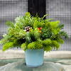 "5"" Glacier Blue Metal Planter (New!)"