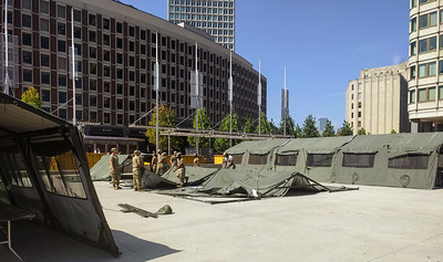 2018 Greater Boston Stand Down set-up. With MA National Guard.