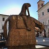 Norberto sculpture of St. Francis in Spello's main square