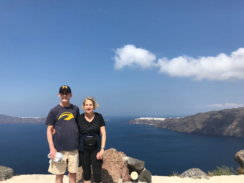 Hike from Firostefani to Ia, Santorini