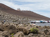 Telescopes on top of Haleakala.  The one on the left keeps watch on orbiting junk