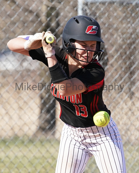 Clinton vs Gladstone high school softball