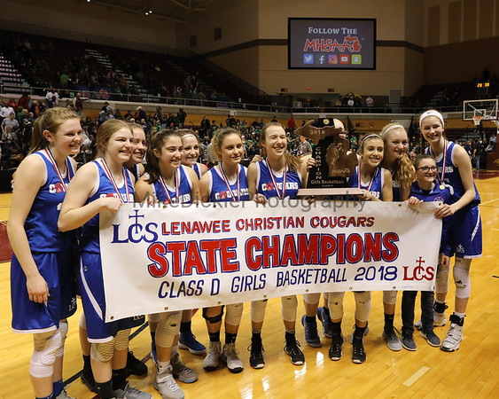 Lenawee Christian vs Chassell State Championship girls bball