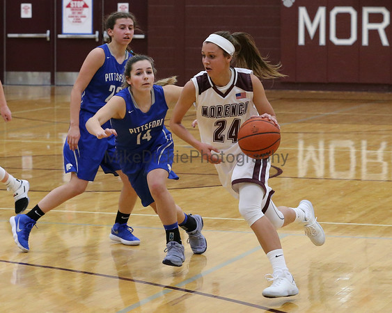 Morenci vs Pittsford girls high school basketball