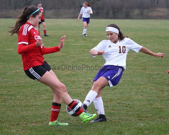 Onsted vs Clinton girls high school soccer