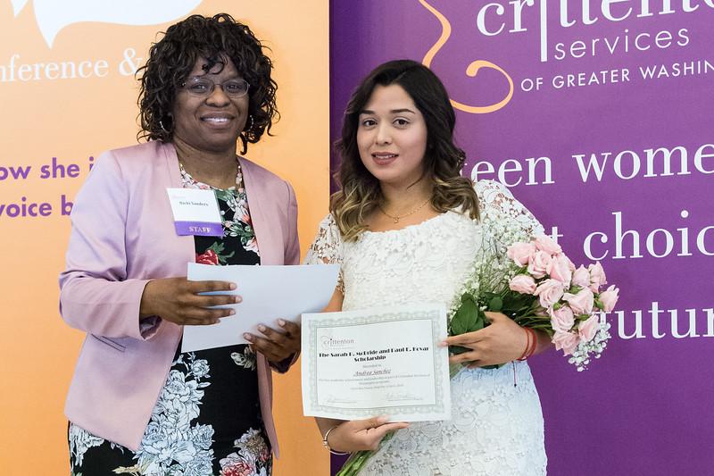 Sarah P. McBride and Paul E. Kovar Scholarship Winner<br /> Andrea Sanchez (Montgomery College; SNEAKERS Alumna)